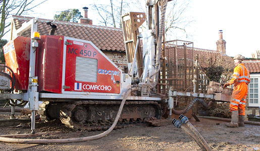Geocore domestic ground source drilling heat pump